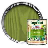 Cuprinol Garden shades Sunny lime Matt Wood paint, 1L