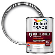 Dulux Trade Pure brilliant white Gloss Multi-surface paint, 1L