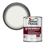 Dulux Trade Weathershield Brilliant white Metal & wood Undercoat, 1L