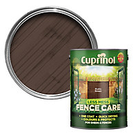 Cuprinol Less mess fence care Rustic brown Matt Wood paint, 5