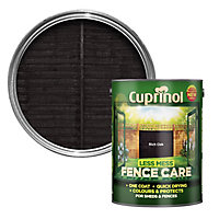 Cuprinol Less mess fence care Rich oak Matt Wood treatment, 5L