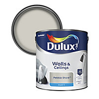 Dulux Pebble shore Matt Emulsion paint 2.5