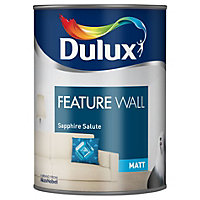 Dulux Feature wall Sapphire salute Matt Emulsion paint 1.25L