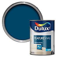Dulux Feature wall Sapphire salute Matt Emulsion paint 1.25L