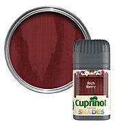 Cuprinol Garden Shades Rich berry Matt Wood paint 0.05L