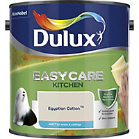 Dulux Easycare Kitchen Egyptian cotton Matt Emulsion paint, 2.5L