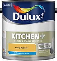 Dulux Kitchen Honey mustard Matt Emulsion paint 2.5L