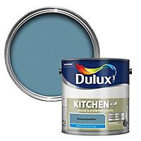 Dulux Easycare Kitchen Stonewashed blue Matt Emulsion paint, 2.5L