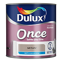 Dulux Once Soft truffle Matt Emulsion paint 2.5L