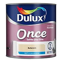 Dulux Once Buttermilk Matt Emulsion paint 2.5L