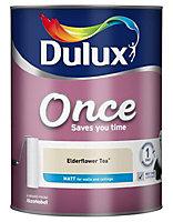 Dulux Once Elderflower tea Matt Emulsion paint 5L
