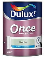 Dulux Once Willow tree Matt Emulsion paint 5L