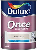 Dulux Once Nutmeg white Matt Emulsion paint 5L