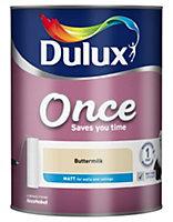 Dulux Once Buttermilk Matt Emulsion paint 5L