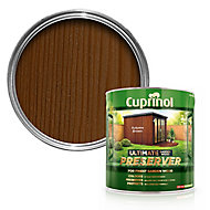 Cuprinol Ultimate Autumn brown Matt Wood preserver, 4L