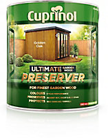 Cuprinol Ultimate Golden oak Matt Wood preserver, 4L
