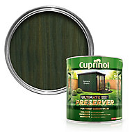 Cuprinol Ultimate Spruce green Matt Wood preserver, 4L