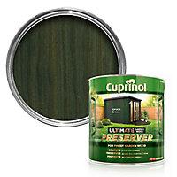 Cuprinol Ultimate Spruce green Matt Wood preserver, 4L