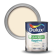 Dulux Quick dry Natural calico Eggshell Metal & wood paint, 0.75L