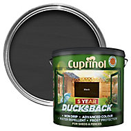 Cuprinol 5 year ducksback Black Matt Fence & shed Wood treatment, 9L