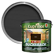 Cuprinol 5 Year Ducksback Black Matt Shed & fence treatment 9L