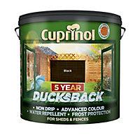 Cuprinol 5 year ducksback Black Matt Fence & shed Wood treatment, 9L