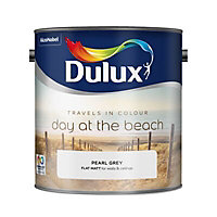Dulux Travels in colour Pearl grey Flat matt Emulsion paint, 2.5L