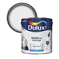 Dulux Rock salt Matt Emulsion paint, 2.5L