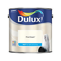 Dulux Fine cream Matt Emulsion Paint 2.5L