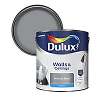 Dulux Natural slate Matt Emulsion paint, 2.5L