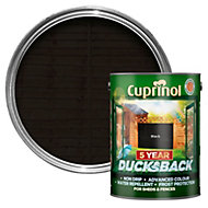 Cuprinol 5 Year Ducksback Black Matt Shed & fence treatment 5L