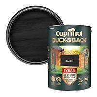 Cuprinol 5 year ducksback Black Matt Fence & shed Wood treatment, 5L