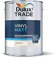 Dulux Trade Jasmine white Vinyl matt Emulsion paint, 5L
