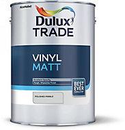 Dulux Trade Polished pebble Vinyl matt Emulsion paint, 5L