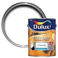 Dulux Easycare Pure brilliant white Matt Emulsion paint 5L