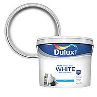 Dulux Pure brilliant white Matt Emulsion paint 10
