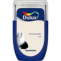 Dulux Standard Almond white Matt Emulsion paint, 0.03L Tester pot