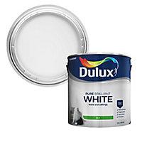 Dulux Pure brilliant white Silk Emulsion paint, 2.5L