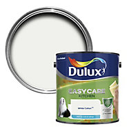 Dulux Easycare Kitchen White cotton Matt Emulsion paint, 2.5L