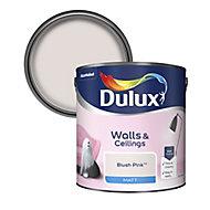 Dulux Standard Blush pink Matt Emulsion paint, 2.5L