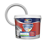 Dulux Weathershield All weather protection Pure brilliant white Smooth Matt Masonry paint, 10L