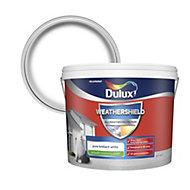 Dulux Weathershield Pure brilliant white Smooth Matt Masonry paint 10L