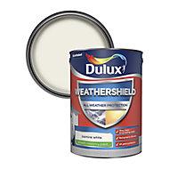 Dulux Weathershield All weather protection Jasmine white Smooth Matt Masonry paint, 5L
