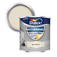 Dulux Weathershield Gardenia Smooth Matt Masonry paint 0.25L Tester pot
