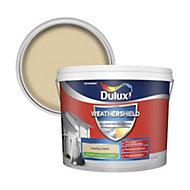 Dulux Weathershield County cream Smooth Matt Masonry paint 10L