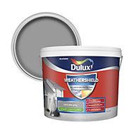 Dulux Weathershield Concrete grey Smooth Matt Masonry paint 10L