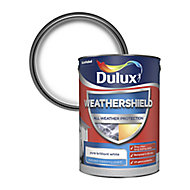 Dulux Weathershield All weather protection Pure brilliant white Textured Matt Masonry paint, 5L