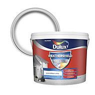 Dulux Weathershield Pure brilliant white Textured Matt Masonry paint 10L