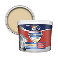 Dulux Weathershield County cream Textured Matt Masonry paint 10L