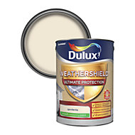 Dulux Weathershield ultimate protection Gardenia Smooth Matt Masonry paint 5L